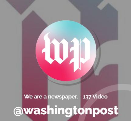 profilo tiktok washington post